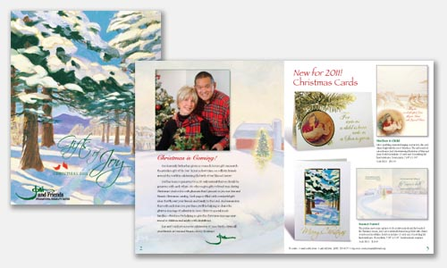 freelance graphic designer portfolio: 2011 Christmas catalog design