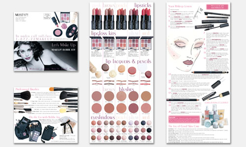 Graphic Design Sample: Cosmetics Brochure Design