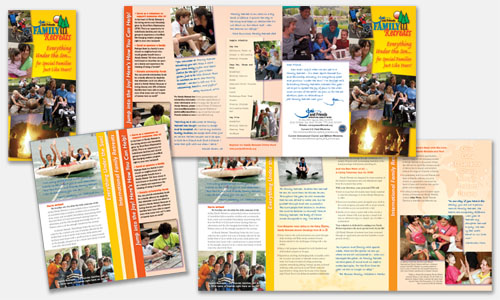 Graphic Design Sample: Family Retreats Brochure Design