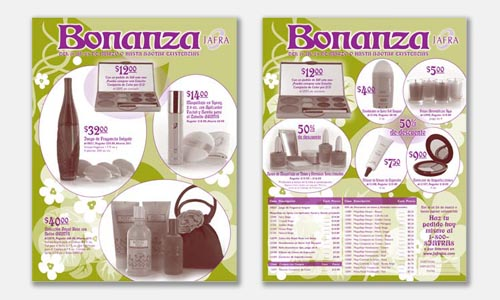 Graphic Design Sample: Bonanza 2-color duotone sell sheet