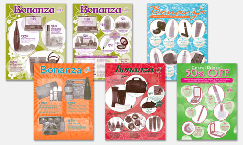 Graphic Design Sample: Bonanza Brochure Designs