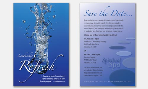 "Graphic Design Sample: ""Save The Date"" postcard design"