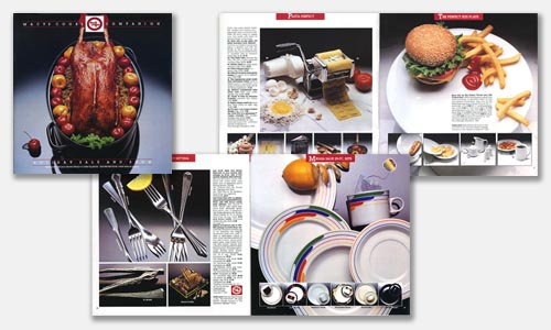 Graphic Design Portfolio Sample: Cookware Catalog Design