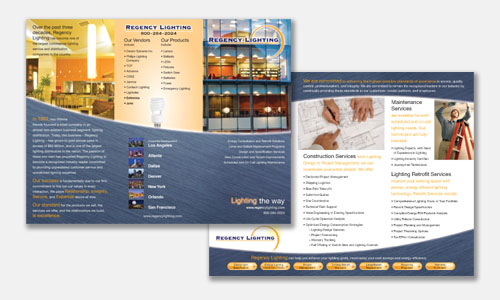 Graphic Design Sample: Lighting Company Brochure Design