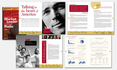Graphic Design Sample: Salem Annual Report Design