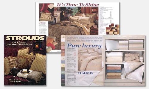 Graphic Design Sample: Bed & Bath Catalog Design