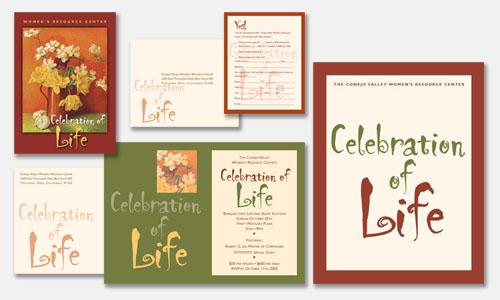 Graphic Design Sample: Gala Fundraiser Ensemble Design
