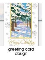 greeting card design portfolio page