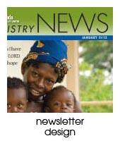 newsletter design portfolio page