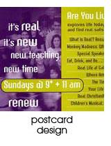 postcard design portfolio page