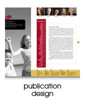 publication design portfolio page