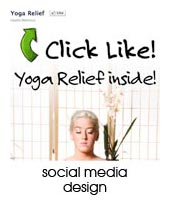 social media design portfolio page
