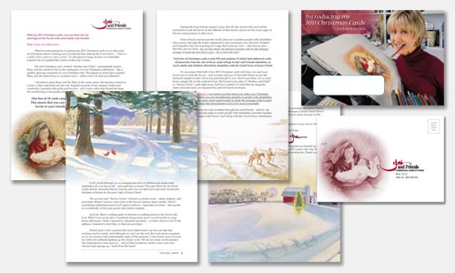 Graphic Design Sample: Christmas cards direct response mailer design