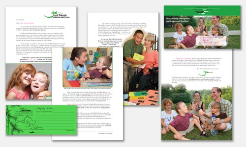 graphic design sample: direct response mailer design
