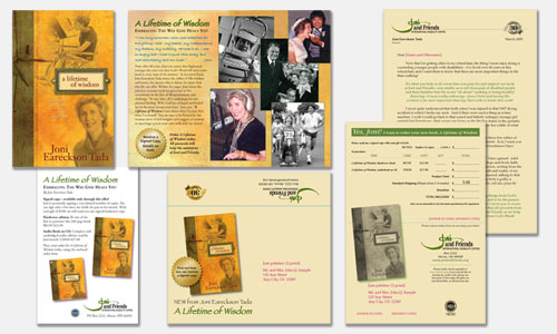 Graphic Design Sample: Direct Response Mailer for Book