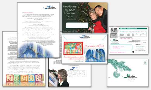 Graphic Design Sample: Christmas Card Direct Response Mailing