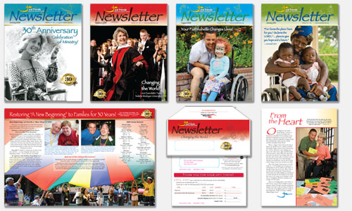 Graphic Design Sample: Newsletter Designs
