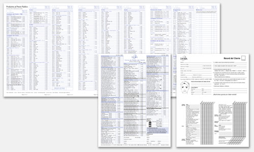 Graphic Design Sample: Paper & NCR Order Form Designs