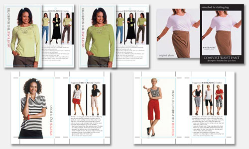 Graphic Design Sample: Fashion Photo Hang Tag Design & Retouching