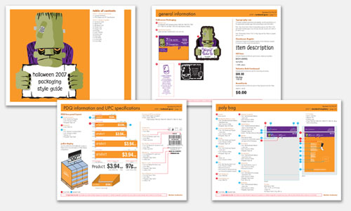 Graphic Design Sample: Packaging Style Guide Design