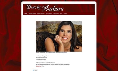 photographer website design sample