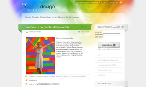 my graphic design sample website