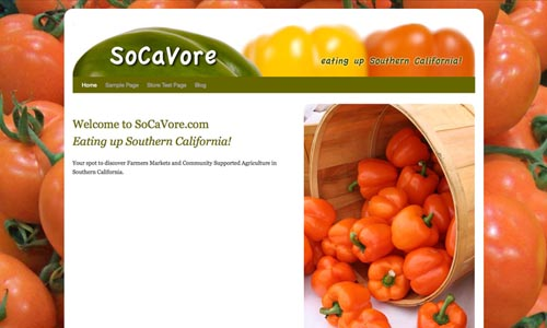 socavore web design sample