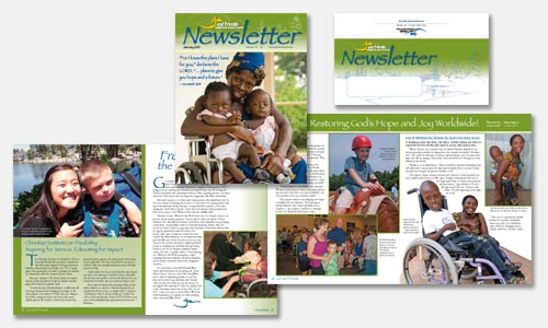 graphic design sample: newsletter design