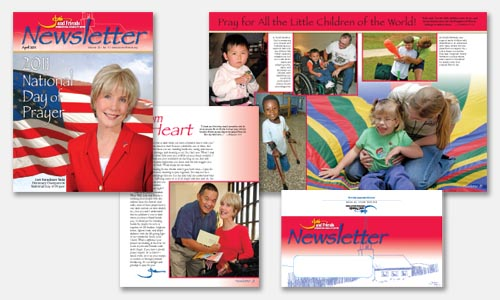 graphic design sample: patriotic newsletter design