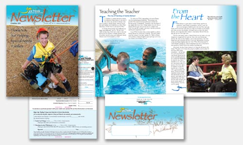 Fall newsletter graphic design sample