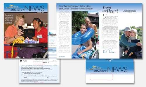january newsletter graphic design sample