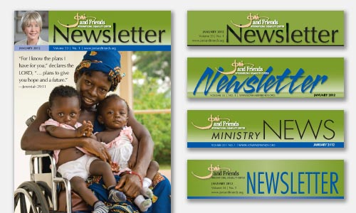 newsletter masthead graphic design sample