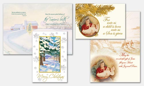 Graphic design sample: Christmas card designs