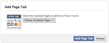 Facebook Timeline Fan Page: How to Add Tabs 2