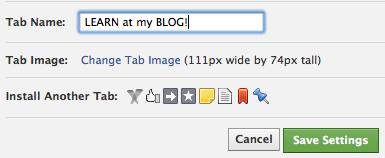 Facebook Timeline Fan Page Tabs: Add Your Website