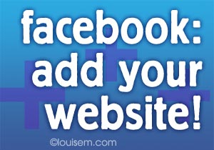 how to add your website link to facebook