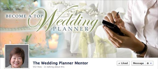 successful facebook business page cover photo - wedding planner mentor