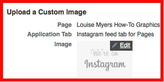 Upload your custom tab image