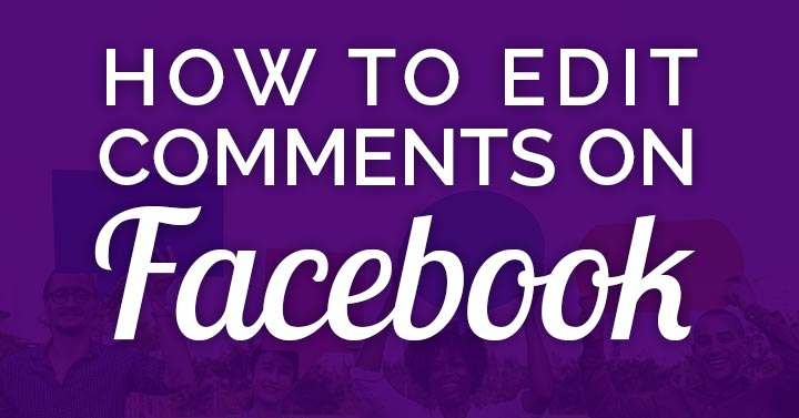 how to edit a Facebook comment banner