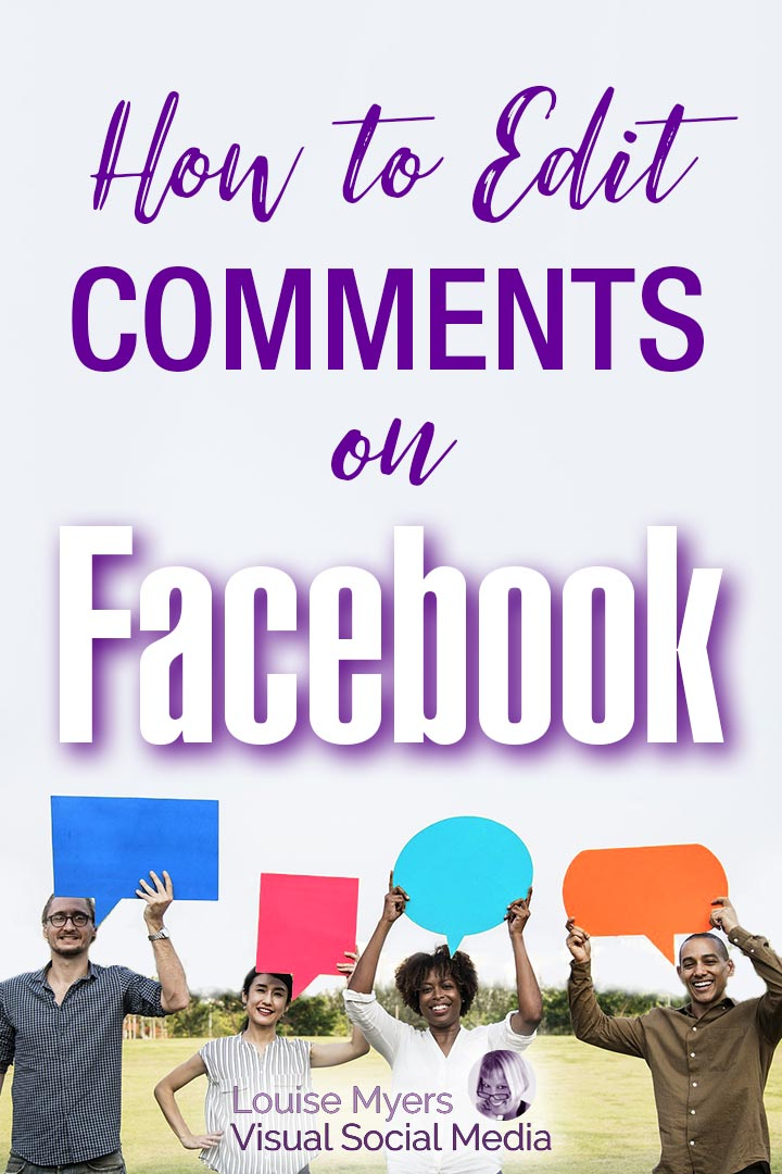 how to edit a Facebook comment Pinterest image