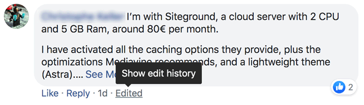 Facebook users can check out the Edit History