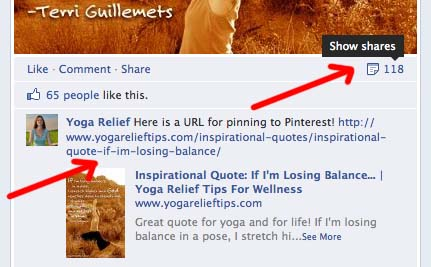 How to Get Facebook Shares that Go Viral - Thank & Pin