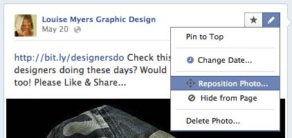 How to Reposition a Facebook Photo 1