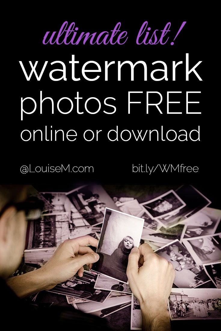 pinnable image with text saying watermark photos free download or online.