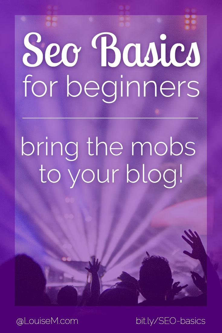 SEO basics for beginners pin image