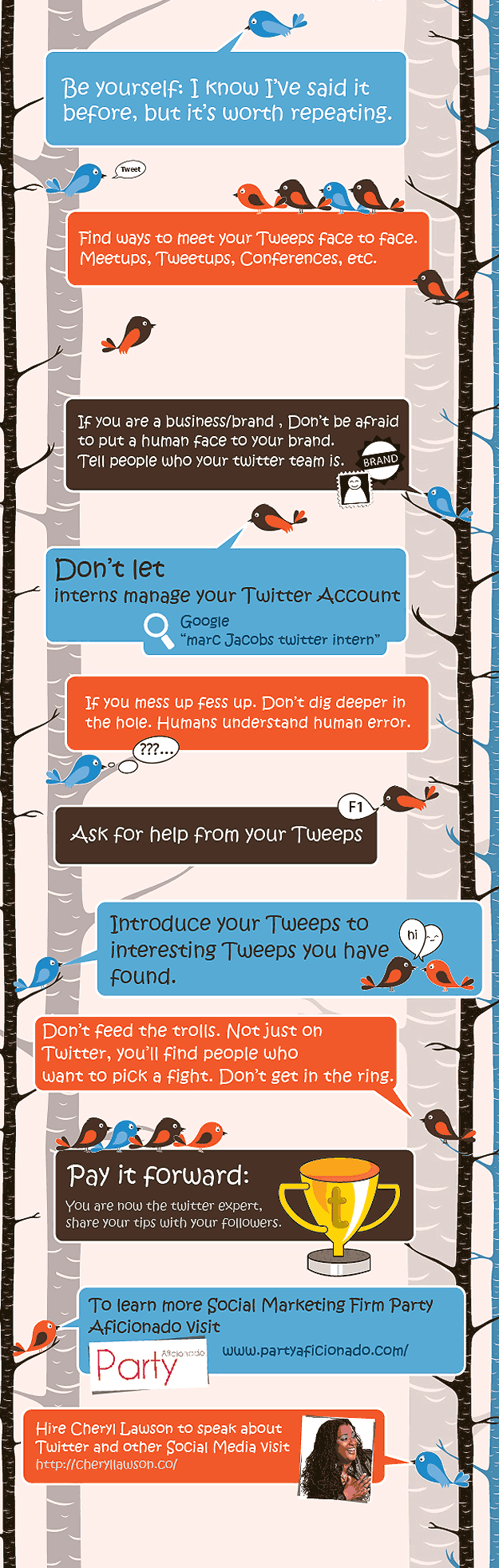 Top Twitter Tips for Business Infographic
