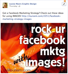 how to add online images to facebook postings