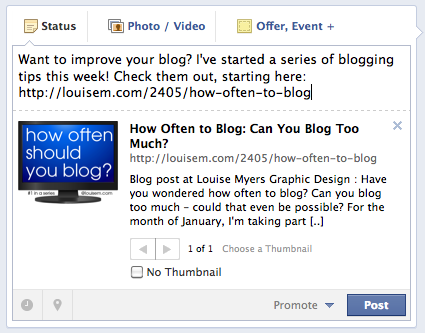 how to put a link on facebook post