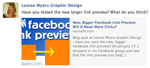 Post a Link on Facebook: Newsfeed View