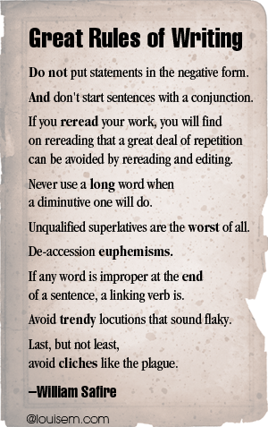 Great Rules of Writing Pinnable Quote